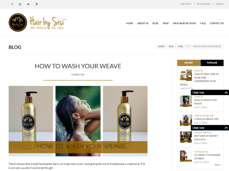 Blog page of Hair by Sisi